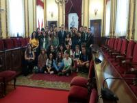 With the Guadalajara mayor, at the Town Hall